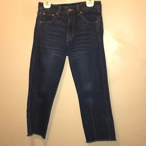 Lucky Brand Frayed Bottom Crop Denim Jeans 2/26.
